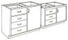 Standard Steel Laboratory Cabinet, (1) Door & (_) Drawers -- 140A Series - Image