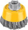 "3"" x 5/8""-11 HP .014 Carbon Crimp Wire Cup Brush -- DW4920 - Image"