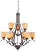 9 Light Chandelier -- 3Z6Z(Designers Fountain 80889-EMB)