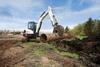 Minimal Tail Swing Compact Excavator -- E55 - Image