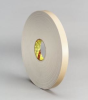 3M 4496 White Foam Mounting Tape - 1 in Width x 36 yd Length - 1/16 in Thick - 24306 -- 021200-24306 -- View Larger Image