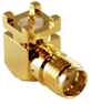 Gold SMA Female Right-angle Surface-mount Connector -- CONSMA002-SMD-G -- View Larger Image