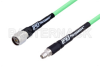 N Male to SMA Male with Reduced Diameter SMA Body Low Loss Test Cable 60 Inch Length Using PE-P300LL Coax, RoHS -- PE337-60 -Image