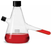 Glass Flasks, Clear Glass Nephelo Culture Flasks w/ Ports -- 351486