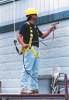 Rope Grabs With Lanyard - w/ 4' shock absorbing lanyard & snap hook > UOM - Each -- 8174MLS4/4FTYL -- View Larger Image