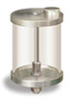 "(Formerly YB3186-4), Oil Reservoir with Filter, 1 qt Acrylic, 1/8"" Female NPT Outlet, 5/8""-18 Thread for Remote Mounting -- B966-0326AB2W -- View Larger Image"