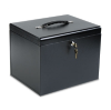 Personal File Storage Box, Letter, Textured Steel, Black -- 0604-4
