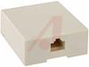 Jack; RJ45 Keyed Surface Mount Box; 8; Plastic; Ivory -- 70080899