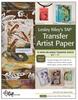 TAP TRANSFER ARTIST PAPER 8.5X11 18/PACK -- B82422