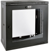 SmartRack 12U Very Low-Profile Patch-Depth Wall-Mount Rack Enclosure Cabinet with Clear Acrylic Window -- SRW12U13G
