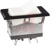 Switch, NON-Illuminated, POWER Rated Rocker, DPDT, ON-NONE-ON, WHITE, SNAP IN -- 70191971 - Image