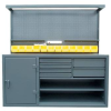 Cabinet Workstation With Accessories -- 63-WB-303-6DB-12B