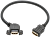 High-Speed HDMI Cable with Ethernet, Digital Video with Audio (F/F), Panel Mount, 1 ft. -- P569-001-FF-APM