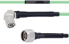 Temperature Conditioned Low Loss RA TNC Male to N Male Cable LL142 Coax in 100 cm -- FMHR0171-100CM -Image