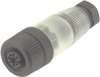 Series 713 - M12 Shielded Connectors -- Male Cable Connector, IDC Termination - Image