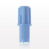 Ribbed Vented Male Luer Push On Cap, Light Blue -- 11588 -- View Larger Image