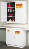 Flammable Liquid Safety Storage Manual Close Cabinet -- CAB126-WHITE