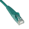 Cat6 Gigabit Snagless Molded Patch Cable (RJ45 M/M) - Green, 15-ft. -- N201-015-GN