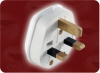 ASSEMBLED UK PLUG WHITE -- 9650.MPW - Image