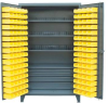 All Secure Full-Width Drawer Cabinet with Bins -- 46-BSC-301-4DB/3SOS/20VD