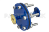 WR-22 Waveguide Bulkhead Adapter UG-383/U Round Cover Flange, 33 GHz to 50 GHz -- PEWAD5007 -Image
