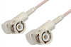 BNC Male Right Angle to BNC Male Right Angle Cable 48 Inch Length Using 75 Ohm RG179 Coax -- PE3366-48 -Image