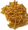 Brass Flat Head Philips Screws, 100 pack -- 122418