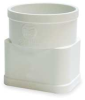 Downspout Adapter,3 x 4 x 4 In,PVC,Wh -- 1CNU5
