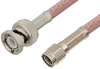 Reverse Polarity SMA Male to BNC Male Cable 24 Inch Length Using RG142 Coax -- PE35209-24 -Image