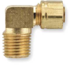 Male Elbow,Brass,Tube 3/16 In,PK25 -- 6LG49