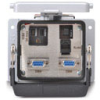 Size 32B Panel Interface Connector: (1) outlet, (2) DB9, (1) RJ45 -- ZP-PSA-32-400