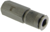 Double Shut Off, Dry Break Quick Disconnect - Internal Pin - M3 thread -- QDM3I-3