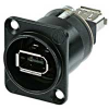 Neutrik NA13946WB Feed Through Fire Wire 6 - Black -- NEUNA13946WB