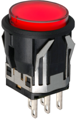 Pushbutton switch with blade connector image