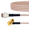 SMA Male to RA SSMC Plug Cable RG-316 Coax in 72 Inch -- FMCA1736-72 -Image