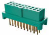 10+10 Pos. Female DIL Vertical Throughboard Conn. for Latches (T+R) -- G125-FV12005L0R - Image