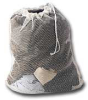 Laundry Bag / Mesh with String - White -- MS1
