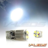 6K WHITE 4 LED 2W HIGH POWER BULBS 194 168 158 | 1 PAIR -- 194_4_RB_W_6K