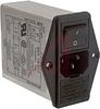 EMI POWER LINE FILTER, MULTI FUNCTION MODULE, W/IEC CONN, SINGL FUSE, W/VOLT SEL -- 70133405 - Image