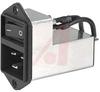 Power Entry Module; 2; 125/250 VAC @ 50/60 Hz; 20 A; lt 0.5 mA @ 250 V/60 Hz -- 70080080 - Image