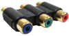 3 RGB RCA to 3 RGB RCA Coupler Gold Plated -- 251-117