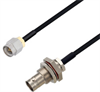 BNC Female Bulkhead to SMA Male Cable Assembly using LC085TBJ Coax, 4 FT -- LCCA30599-FT4 -Image