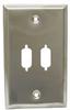 Dual DB9 / DB15HD D-Sub Wall Plate -- 85-252