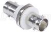 75 Ohm Coaxial Adapter, BNC F / Bulkhead, Acetal Mnt. Flange -- BA039 - Image