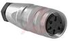 connector,circular din,str female cableconn,5din silver-pltd solder cont,ip67 -- 70013471