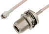 SMA Male to N Female Bulkhead Cable 72 Inch Length Using RG316-DS Coax -- PE33929-72 -Image