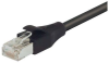 LSZH Shielded Category 6a Cable, RJ45 / RJ45, 26AWG Stranded, Black, 5.0ft -- TAA00004-5F -Image