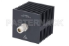 Medium Power 50 Watts RF Load Up To 18 GHz With N Female Input Square Body Black Anodized Aluminum Heatsink -- PE6214 -- View Larger Image