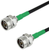 N Male to N Male Cable LMR-240 Coax in 6 Inch with Times Microwave Connectors and RoHS -- FMC0101240LF-06 -Image