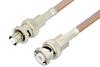 MHV Male to SHV Plug Cable 24 Inch Length Using RG400 Coax, RoHS -- PE34409LF-24 -Image